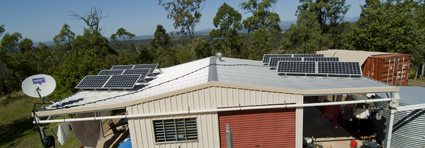 "Our 1.98kW solar array on the roof of the ""office"""
