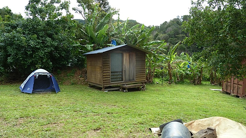 One of the lovely cabins, or you could bring your own tent.