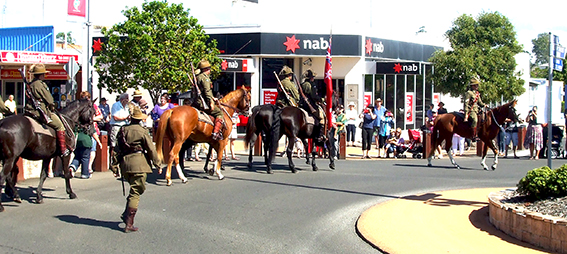 The Gatton Light Horse Troop in the Anzac Day parade in 2012.  A friend in Germany sent this to me, which shows how far the knowledge of our Light Horse Troop has spread.